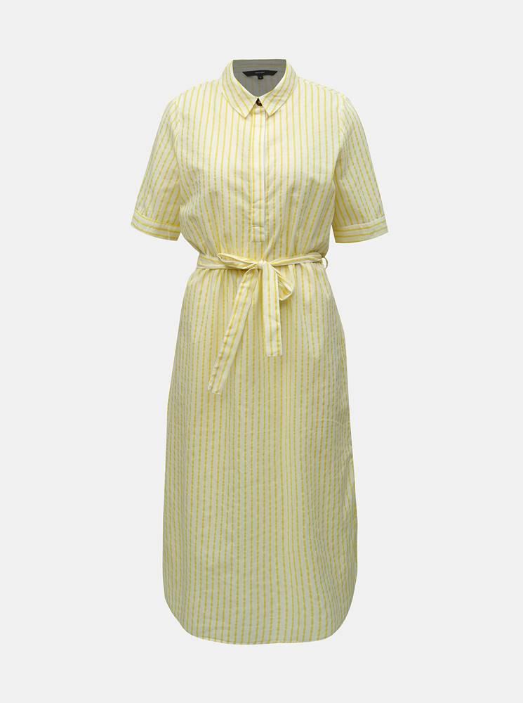 Vero Moda Žlté pruhované košeľové šaty VERO MODA Cassie