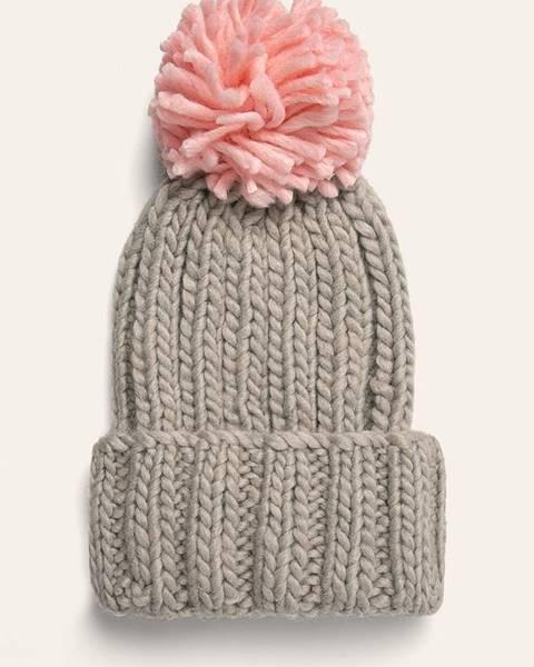Sivá čiapka Answear