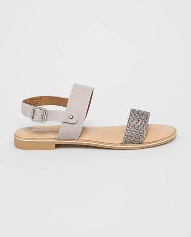 Sivé sandále Tamaris