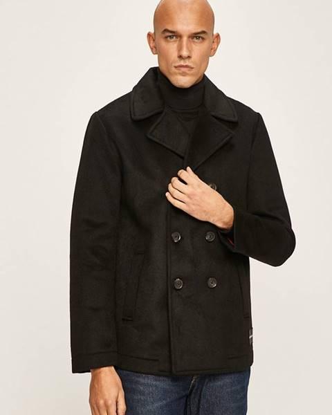 Čierny kabát Calvin Klein Jeans