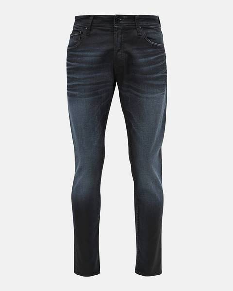 Jack & Jones Tmavomodré slim fit rifle Jack & Jones Glenn