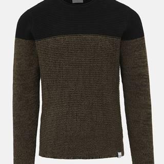 Čierno-hnedý sveter ONLY & SONS Sato