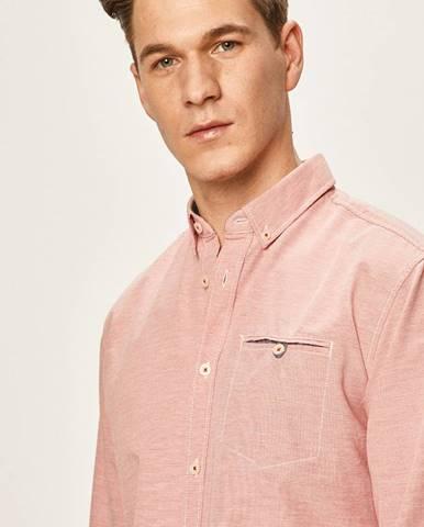 Červená košeľa Tom Tailor Denim
