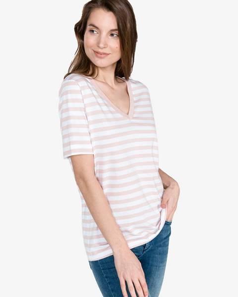 Béžové tričko Selected