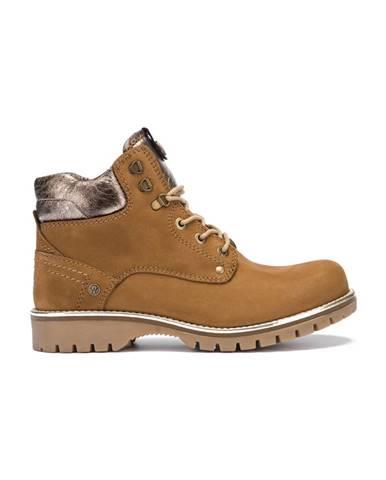 Hnedé členková obuv Wrangler