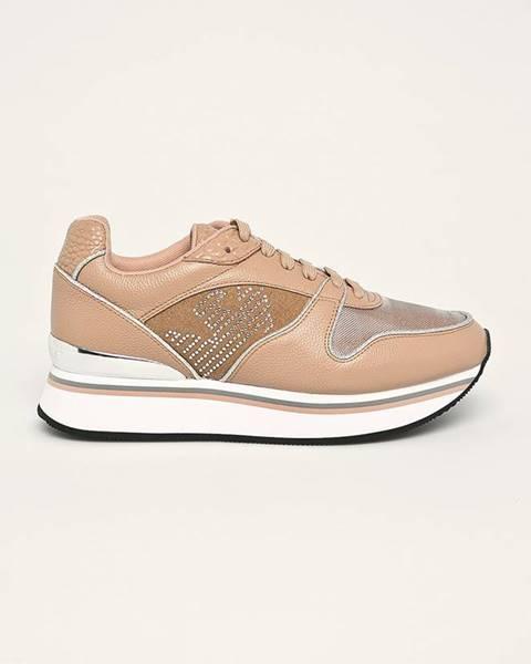Béžové topánky Emporio Armani