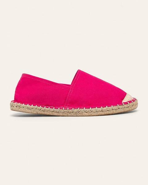 Ružové espadrilky Answear