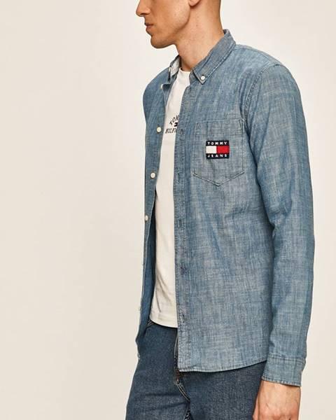 Modrá košeľa Tommy Jeans