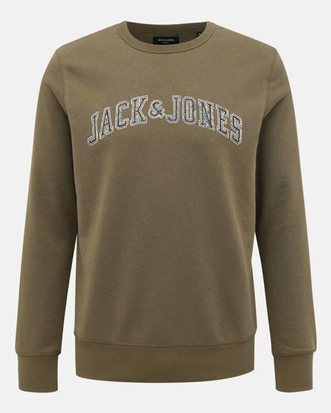 Kaki mikina Jack & Jones