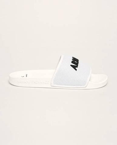 Biele sandále Armani Exchange
