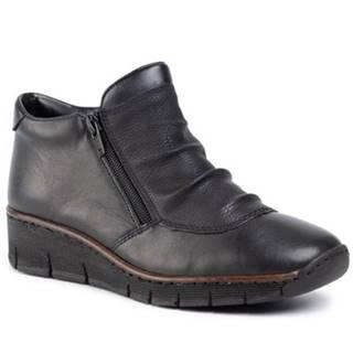 Členkové topánky Rieker 53742-00 koža(useň) lícová
