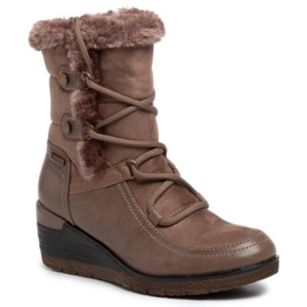 Členkové topánky Clara Barson WS2925-01 Materiał tekstylny,koža ekologická