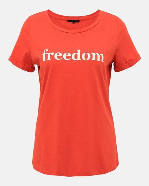 Červené tričko Vero Moda