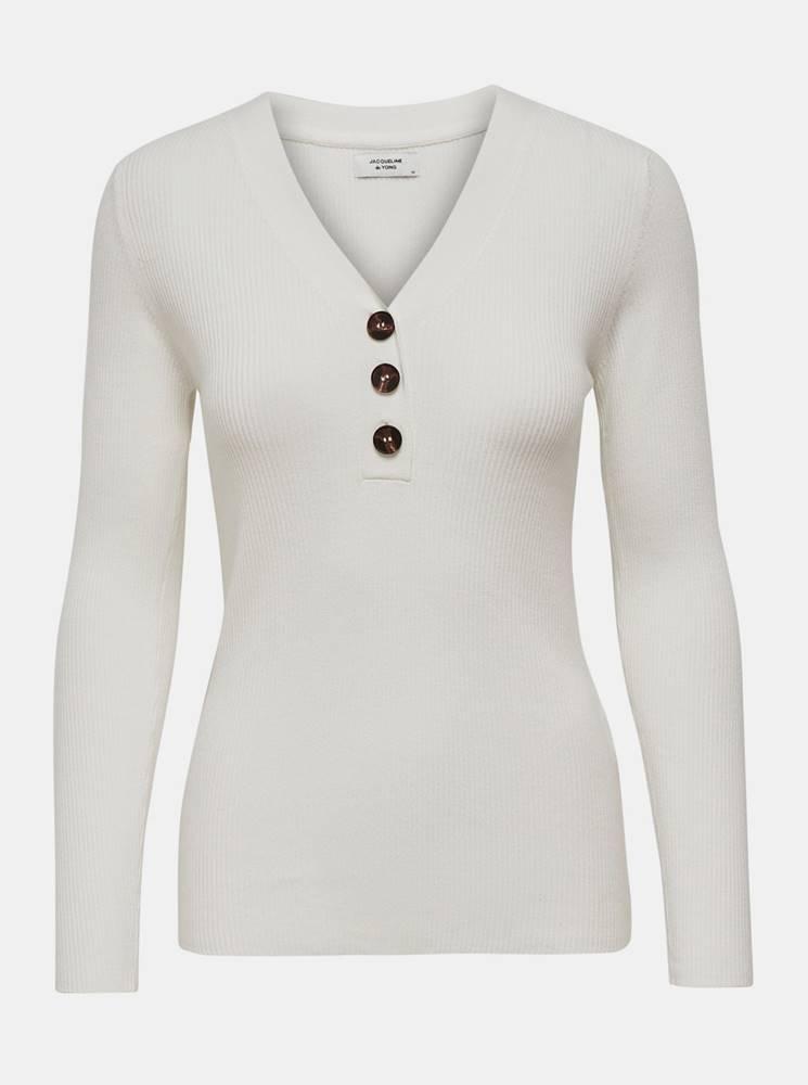 Jacqueline de Yong Biele tričko Jacqueline de Yong Melani