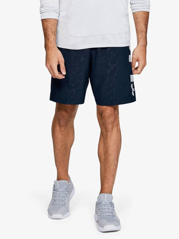 Under Armour Kraťasy Under Armour Woven Graphic Emboss Sts Modrá