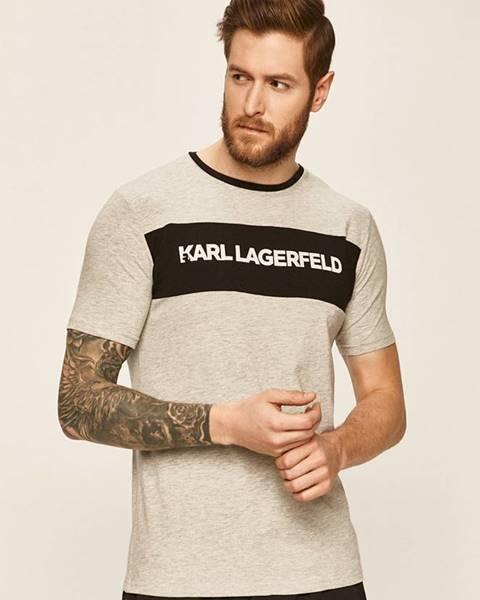 Sivé tričko Karl Lagerfeld