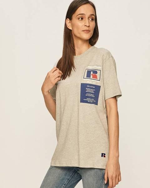 Sivé tričko Russell Athletic