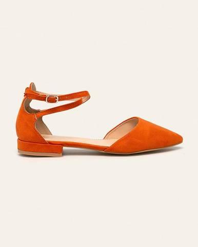 Oranžové balerínky Answear