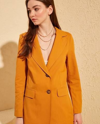 Oranžové sako Trendyol