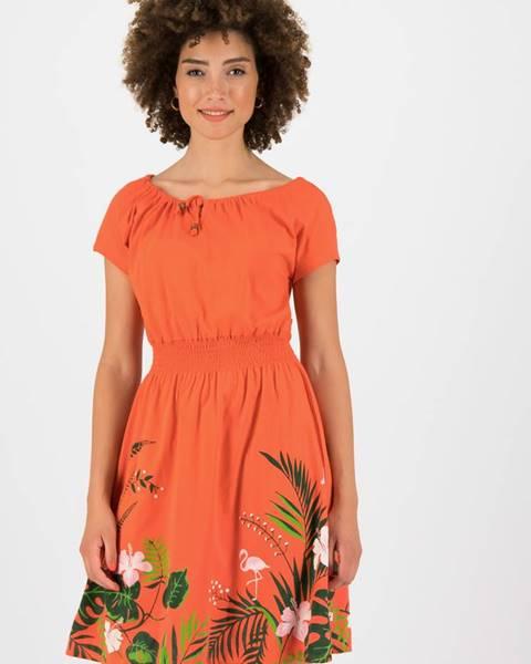 Oranžové šaty Blutsgeschwister