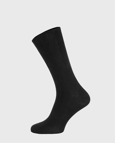 Čierne rebrované ponožky