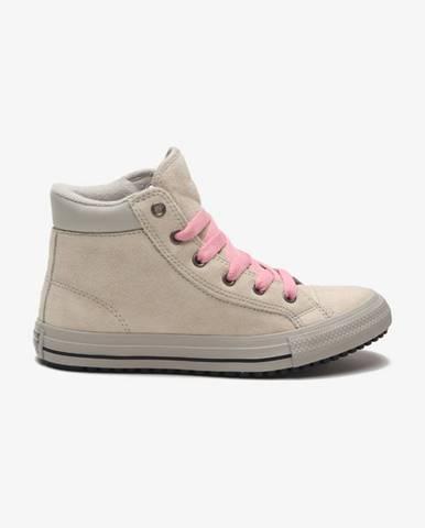 Béžové členková obuv Converse