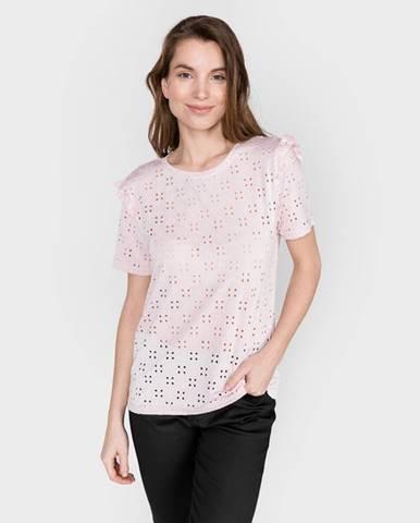 Béžové tričko Vila