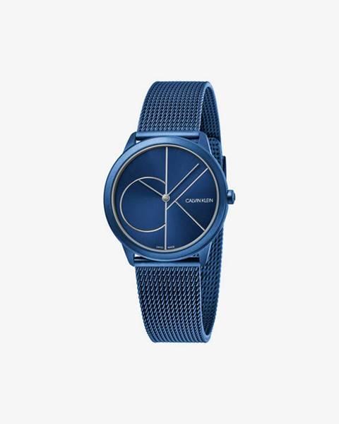Modré hodinky Calvin Klein