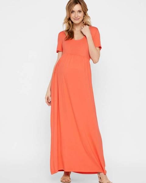 Oranžové tehotenské šaty Mama.licious