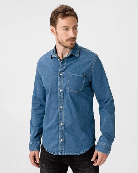Modrá košeľa Pepe jeans
