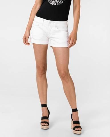 Biele šortky Pepe jeans