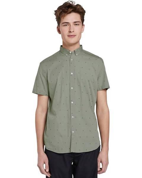 Zelená košeľa Tom Tailor Denim
