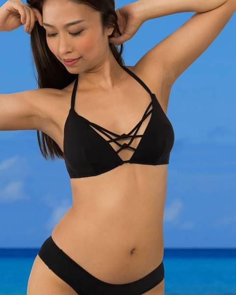Čierne dvojdielne plavky Dorina