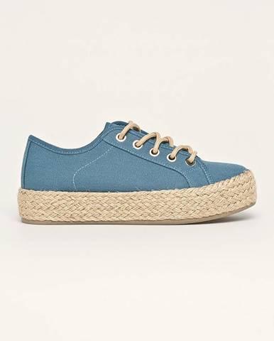 Modré espadrilky Answear