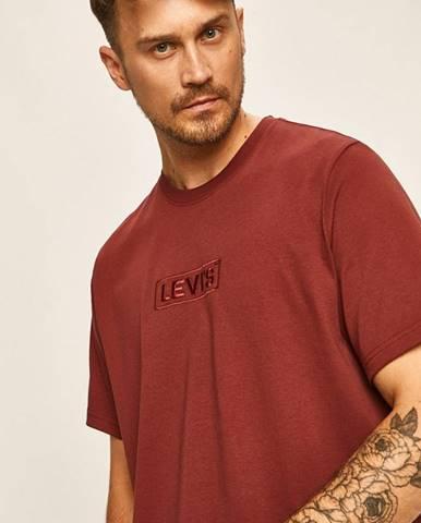 Burgundské tričko Levi's