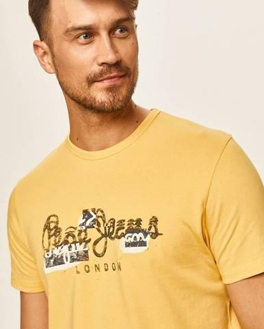 Žlté tričko Pepe jeans