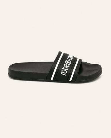 Čierne sandále Roberto Cavalli Sport