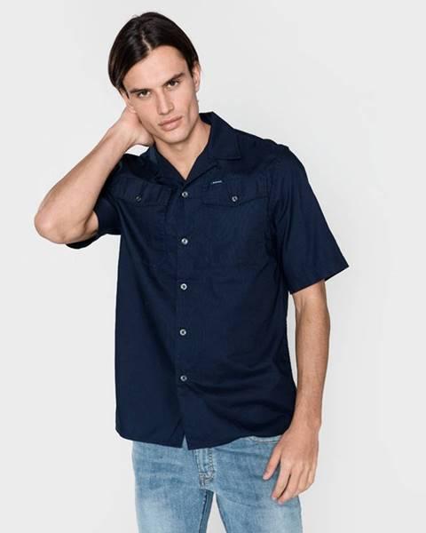 Modrá košeľa G-Star Raw