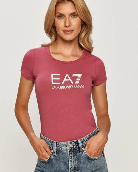 Ružové tričko EA7 Emporio Armani