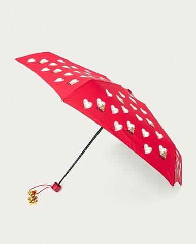 Červený dáždnik Moschino