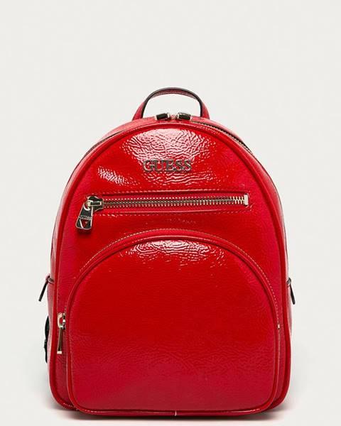 Červený batoh Guess Jeans