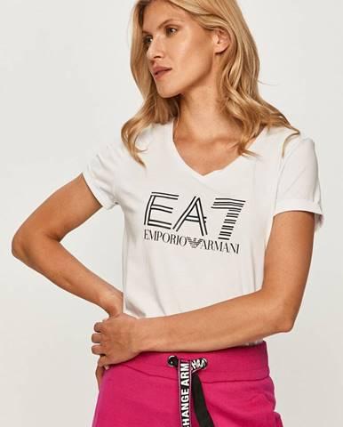 Biele tričko EA7 Emporio Armani