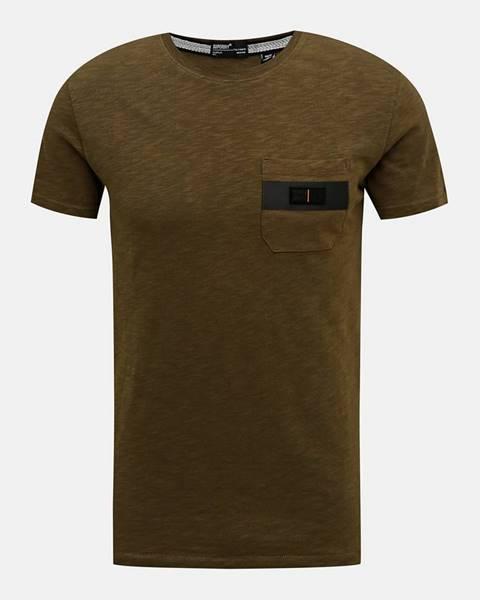 Kaki tričko Superdry