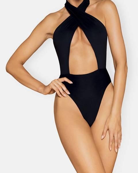 Čierne jednodielne plavky Obsessive