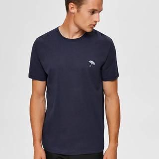 Tmavomodré tričko Selected Homme Astor