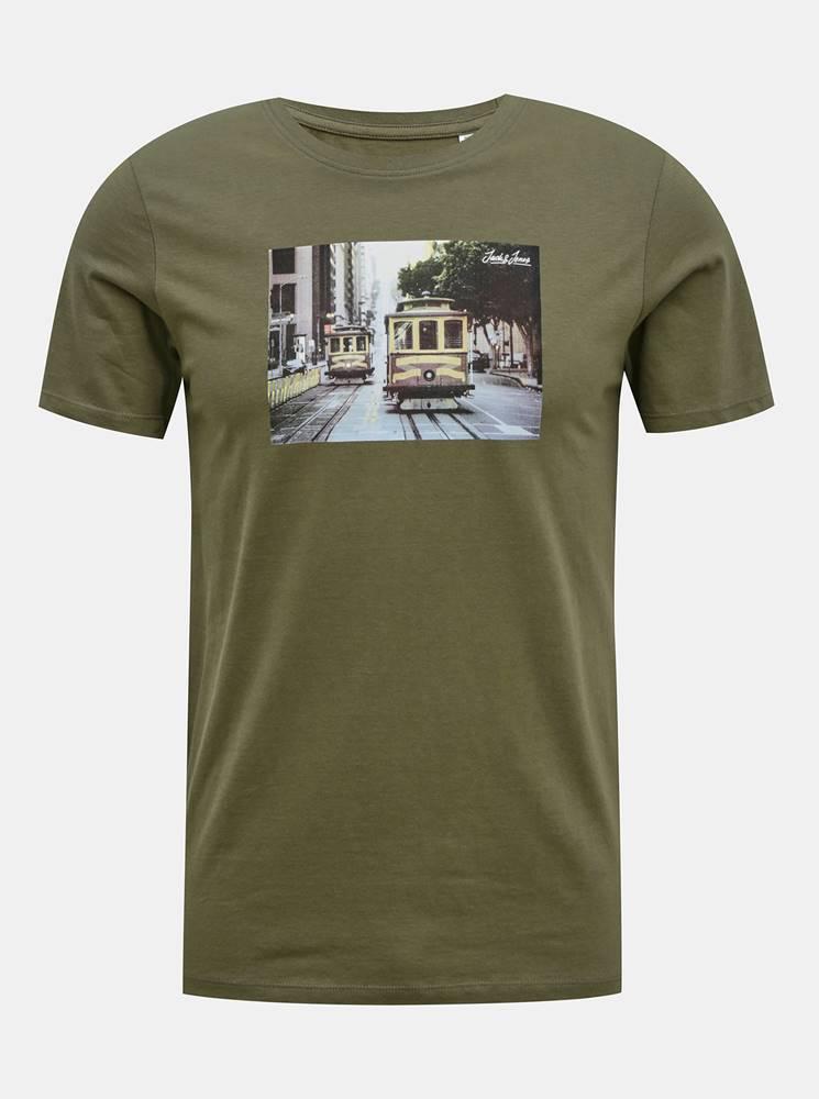 Jack & Jones Kaki tričko Jack & Jones Barista